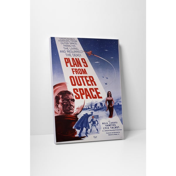 'Plan 9 From Outer Space' Gallery Wrapped Canvas Wall Art