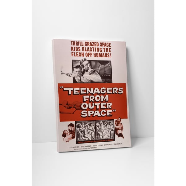 'Teenagers From Outer Space' Gallery Wrapped Canvas Wall Art