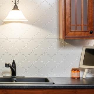 Fasade Monoco Gloss White 18-square Foot Backsplash Kit