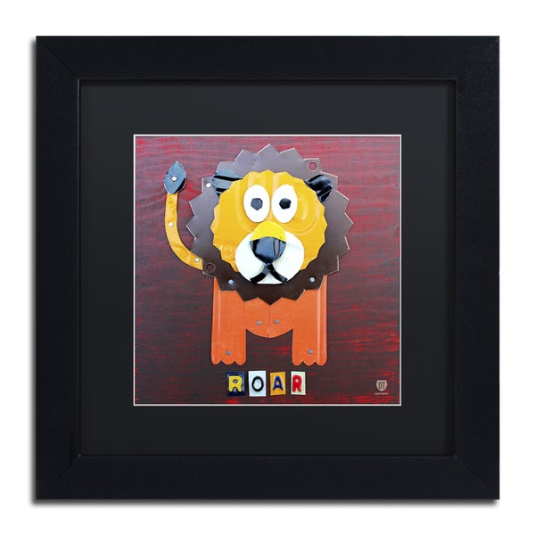 Design Turnpike 'Roar The Lion' Black Matte, Black Framed Canvas Wall Art