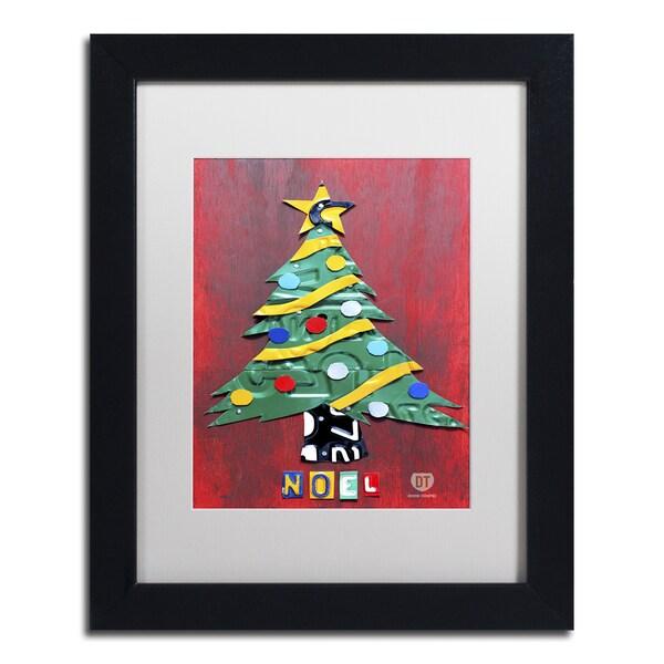 Design Turnpike 'Noel Christmas Tree' White Matte, Black Framed Canvas Wall Art