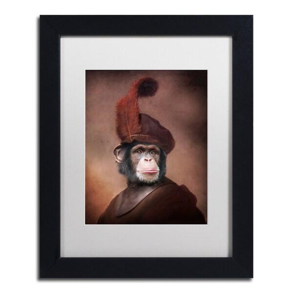 J Hovenstine Studios 'Rembrandt' White Matte, Black Framed Canvas Wall Art