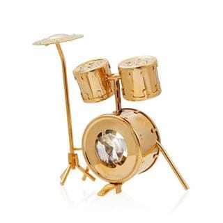 Matashi 24K Gold Plated Beautiful Drumset Ornament with Genuine Matashi Crystals