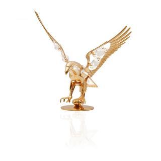 Matashi 24K Gold Plated Eagle Ornament with Genuine Clear Matashi Crystals