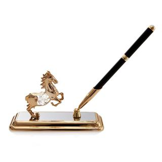 Matashi 24K Gold Plated Horse Pen Set with Genuine Matashi Crystals