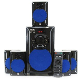 Blue Octave B51 Home Theater 5.1 Speaker System Surround 600 Watts with Powered Sub and FM Tuner