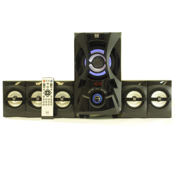 Blue Octave B53 Home Theater 5.1 Bluetooth Speaker System 800W with Powered Sub and FM Tuner