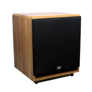 Theater Solutions Mahogany SUB12FM 500 Watt 12-Inch Surround Sound HD Home Theater Powered Active Subwoofer
