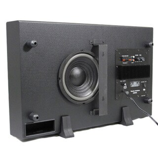 Theater Solutions Black SUB8S 250 Watt Surround Sound HD Home Theater Slim Powered Active Subwoofer