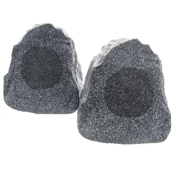 Theater Solutions Granite Grey 2R4G Outdoor Rock Speakers