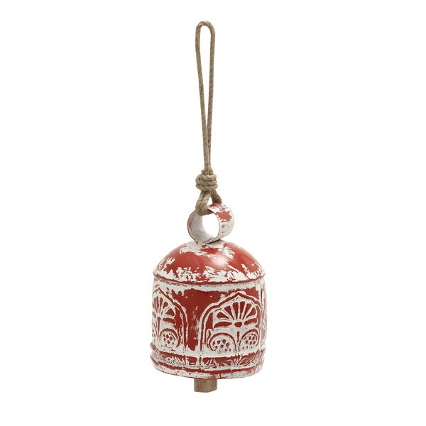 Metal and Wood Bell Decoration