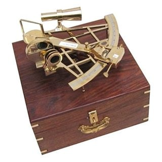 Sextant Brass With Wood Case