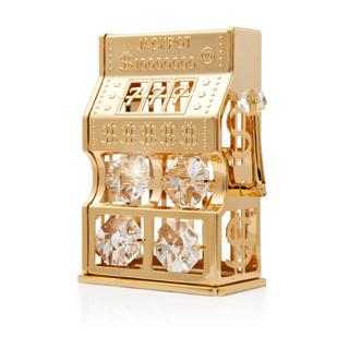 Matashi 24K Gold Plated Slot Machine Ornament with Genuine Matashi Crystals