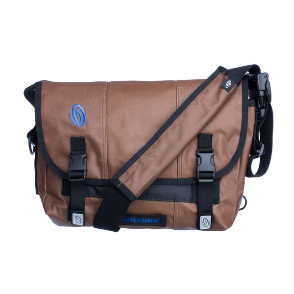 Timbuk2 Small Mahogany Brown/ Pacific Blue Classic Messenger Bag