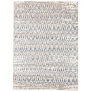 ecarpetgallery Madiba Beige/ Grey Rectangular Rug (7' x 10')