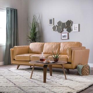 Astoria Tan Charme Leather Sofa