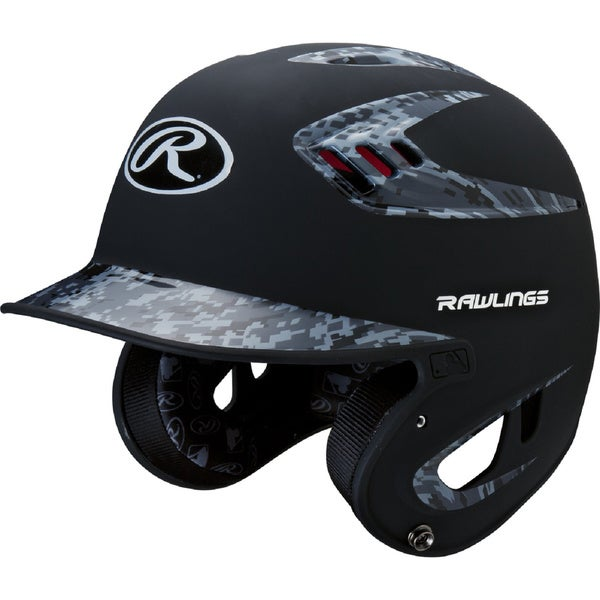 Rawlings 80MPH Two-tone Digi Black Camo Jr. Helmet