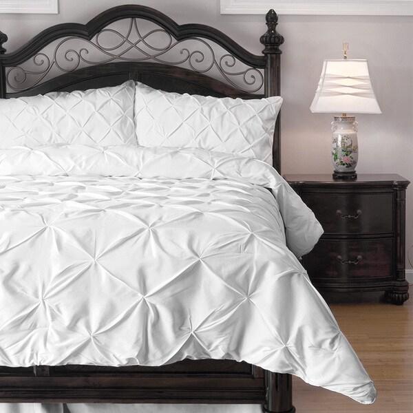 Pinch Pleat 4-Piece Comforter Set (As Is Item)