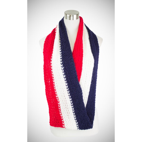 France Knit Infinity Scarf