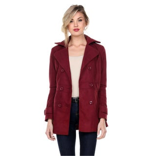 Stanzino Women's Solid Casual Peacoat