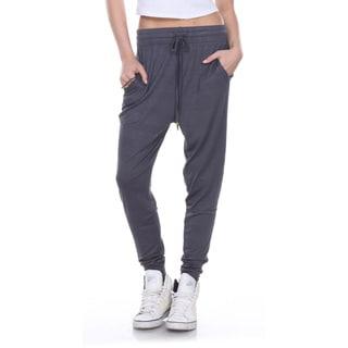 Stanzino Women's Drawstring Solid Harem Casual Lounge Pants