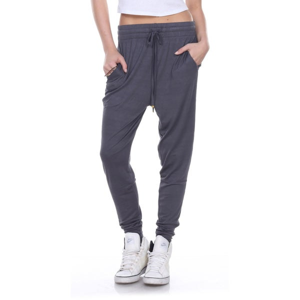 Stanzino Women's Drawstring Solid Harem Casual Lounge Pants
