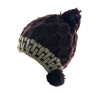 Kate Marie Women's Cable-Knit Pom Pom Beanie