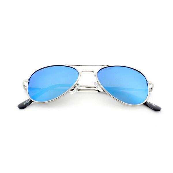 Epic Eyewear Jr. Classic Sport Frame Aviator Reflective Color Mirrored Lens Sunglasses