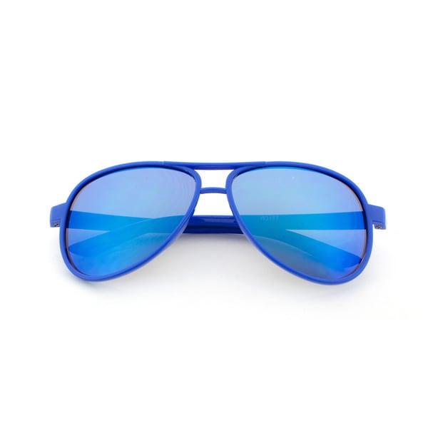 Epic Eyewear Jr. Classic Plastic Frame Aviator Reflective Color Mirrored Lens Sunglasses