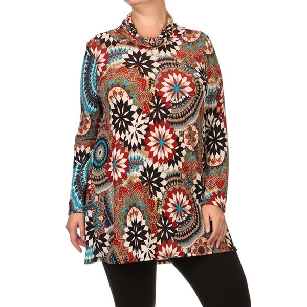 Women's Plus Size Abstract Top