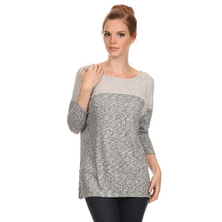Women's Two-Tone Relaxed Top