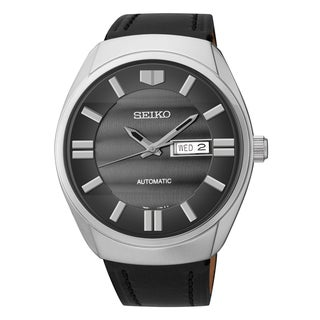 Seiko Men's Recraft Analog Display Japanese Quartz Black Watch