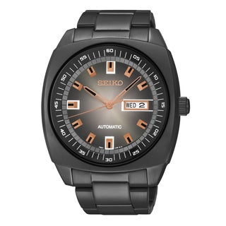 Seiko Men's Recraft Black Stainless Steel Automatic Watch