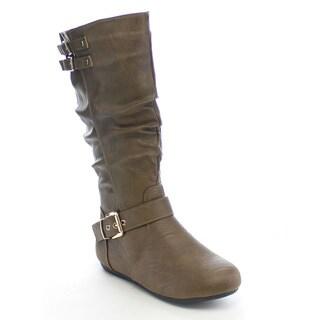 Beston CB42 Women's Buckle Slouch Boots