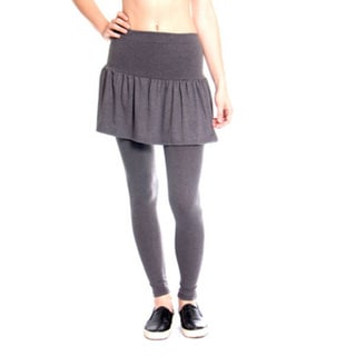 Women's Grey Pleated Rara Skirt with Leggings