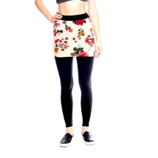 Leggsington Women's Floral Mini Tube Skirt Leggings