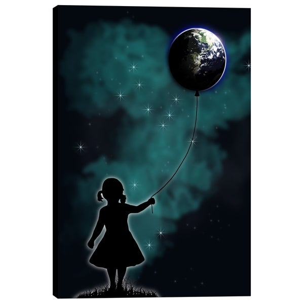 Cortesi Home 'The Girl that Holds the World' by Nicklas Gustafsson Giclee Canvas Wall Art