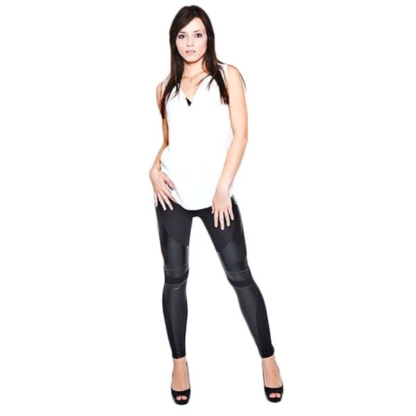 Leggsington Women's Black Contrast Leggings
