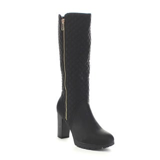 Beston GA81 Women's Quilted Mid Calf Boots