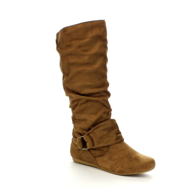 Beston GA89 Women's Mid Calf Slouch Boots