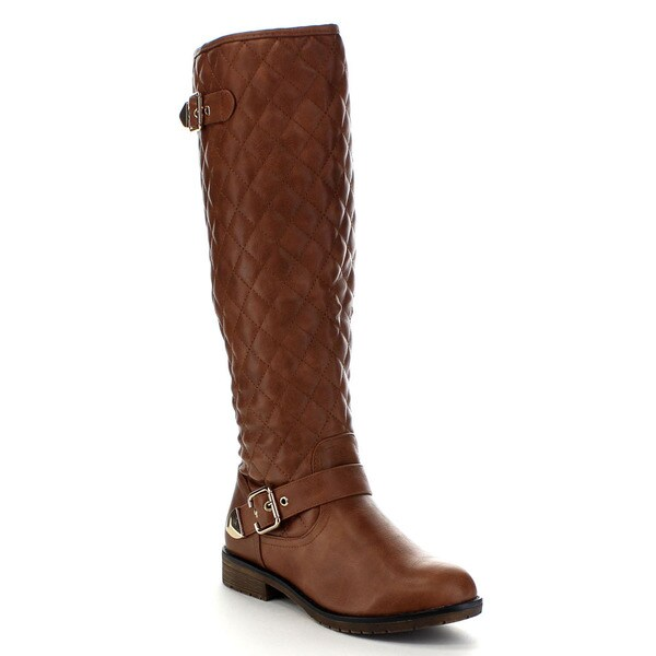 Beston CB28 Women's Quilted Knee High Riding Boots