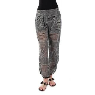 Firmiana Women's Crochet Long Pants