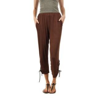 Firmiana Women's Drawstring Ankle Long Pants