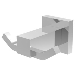 Eviva Sins Wall Mount Bathroom Towel Holder/ Robe Hook (Chrome) Bathroom Accessories