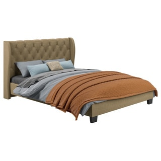 Fairfield Tufted Latte Upholstered Bed
