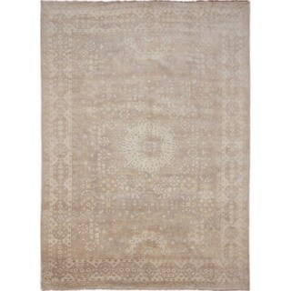 Oushak Taran Brown Hand-knotted Rug (10'3 x 13'10)