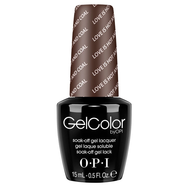 OPI GelColor Love is Hot and Coal