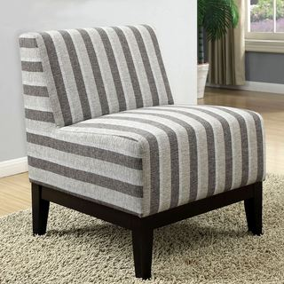Milan Griseous Striped Patteren Design Slipper Accent Chair