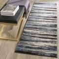 Safavieh Retro Cream/ Blue Rug (2'3 x 11')