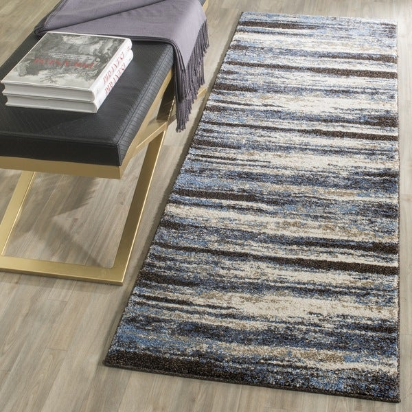Safavieh Retro Modern Abstract Cream Blue Rug 2 3 X 9